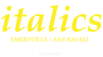 italics welcome logo